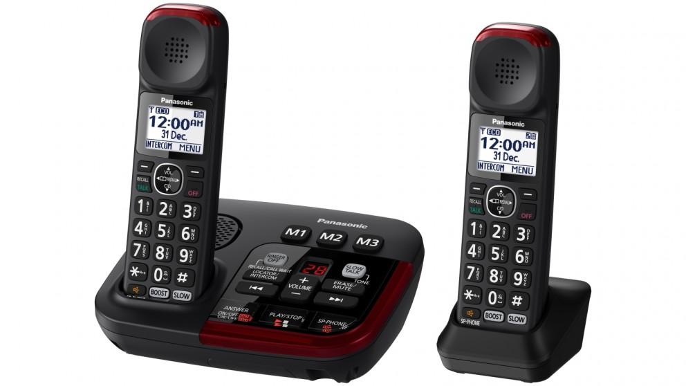 Panasonic KX-TGM422AZB Amplified Twin Pack Cordless Phone