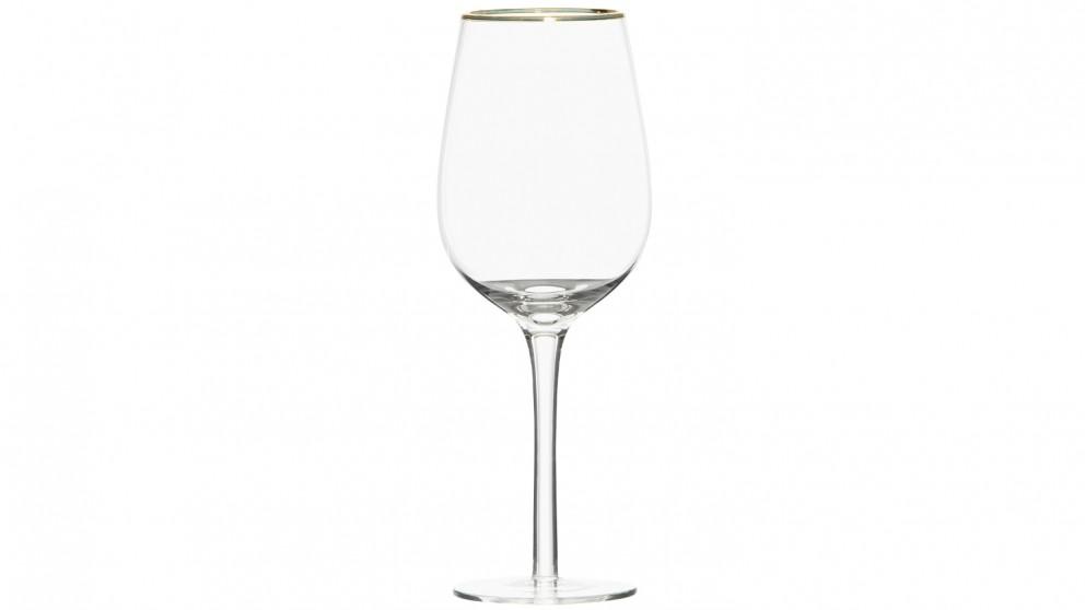 Arpel Gold Rim Wine Glass