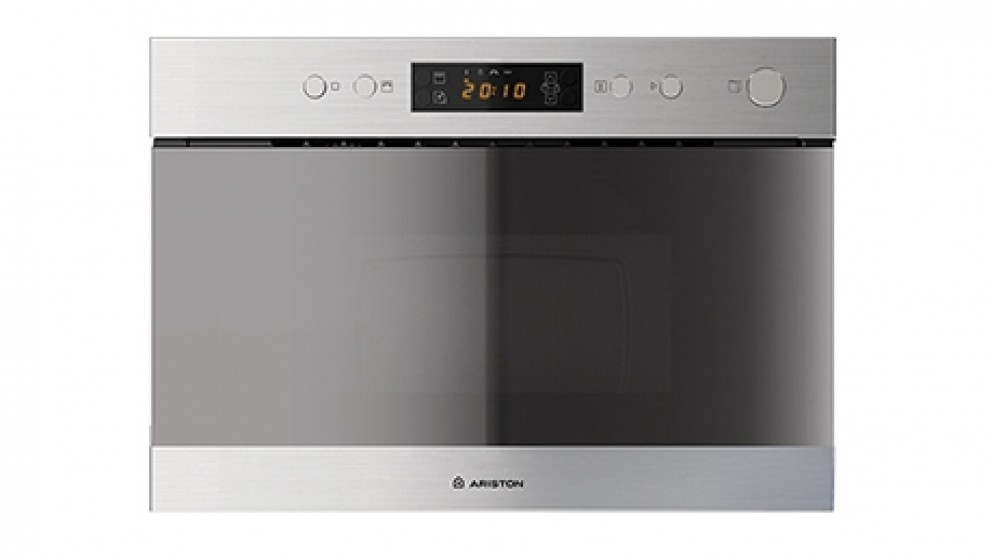 Ariston 60cm Stainless Steel Built In Microwave and Grill Oven