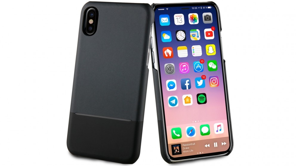 Muvit Skin Case for iPhone X - Black