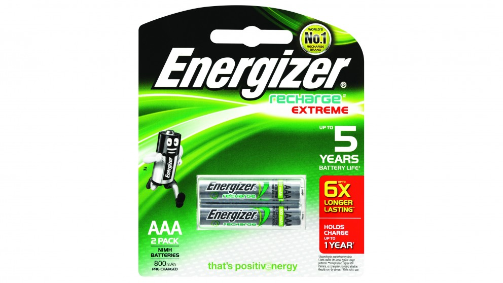 Energizer Recharge AAA Batteries - 2 Pack