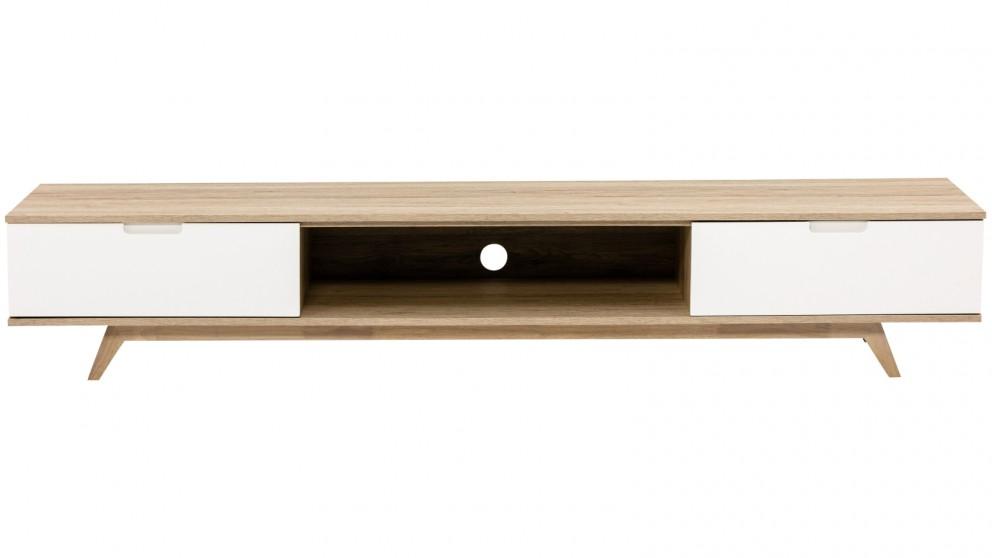 Tauris Nova 2000mm Lowline TV Cabinet - Oak