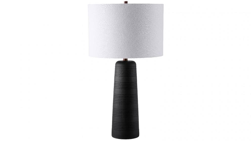 Minx Cement Table Lamp - Onyx