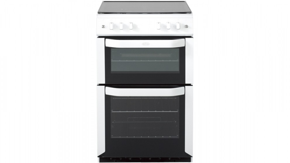 Belling 540mm Freestanding Electric Twin Cavity Cooker LPG - White