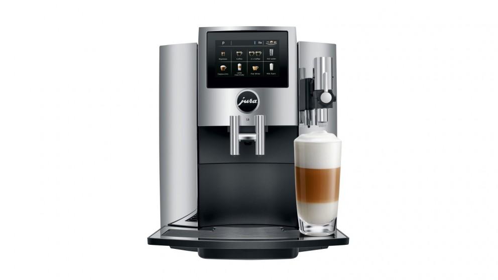 Buy Jura S8 Auto Coffee Machine - Chrome   Domayne AU
