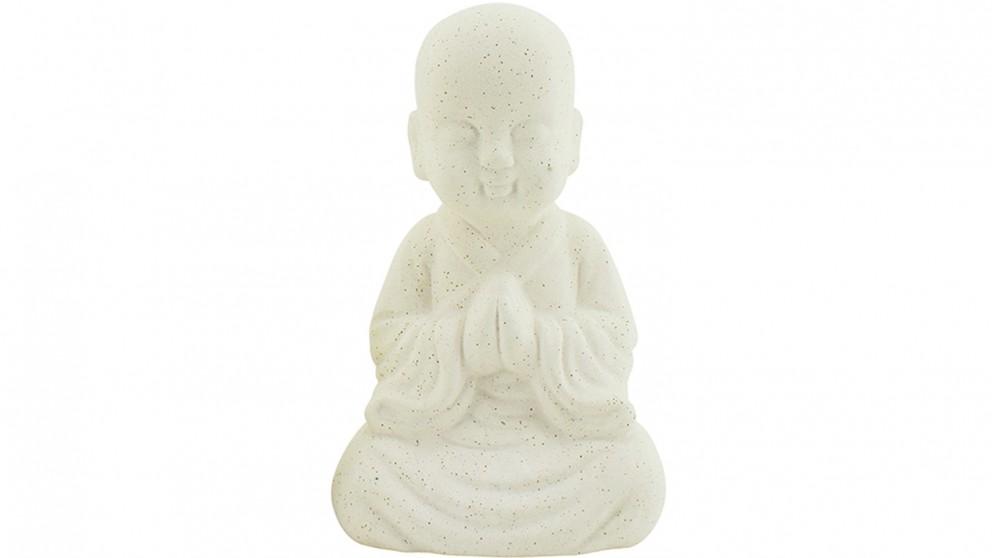 Praying Monk Statue - Sand