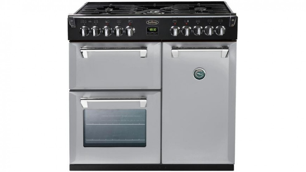 Belling 900mm Richmond Colour Boutique Dual Fuel Range Freestanding Oven - Silver Sky