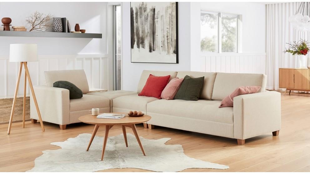 Sophie 4-Piece Fabric Modular Lounge & Ottoman