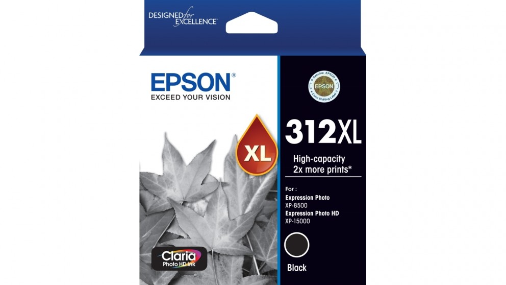 Epson 312XL Claria Photo HD Ink Cartridge - Black