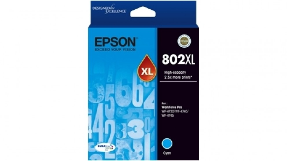 Epson 802XL DURABrite Ultra Cyan Ink Cartridge