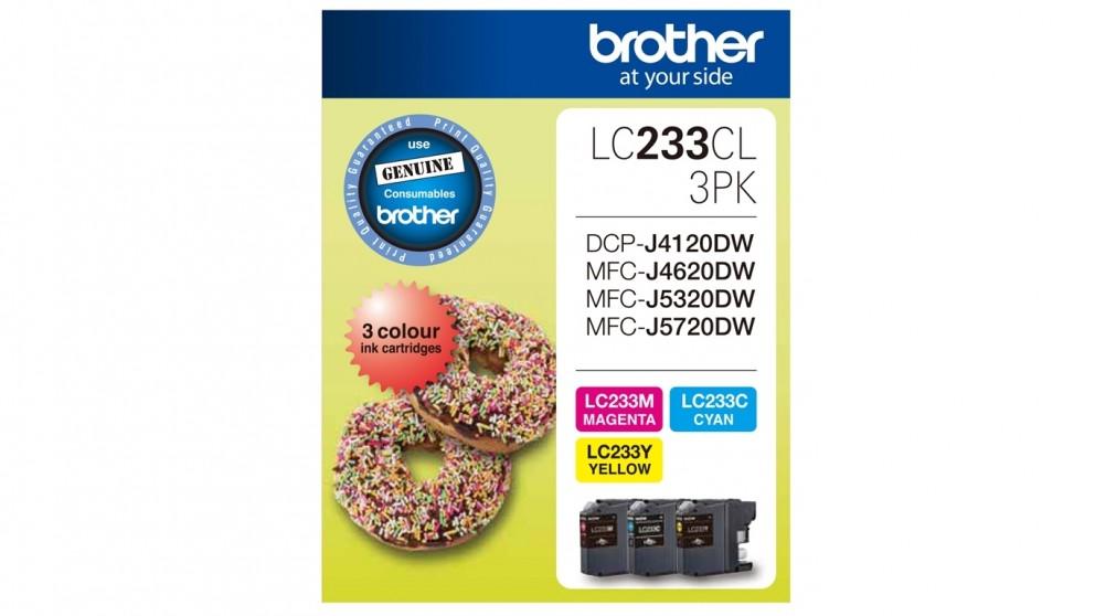 Brother LC233CL3PK Ink Cartridge - Magenta/Yellow/Cyan