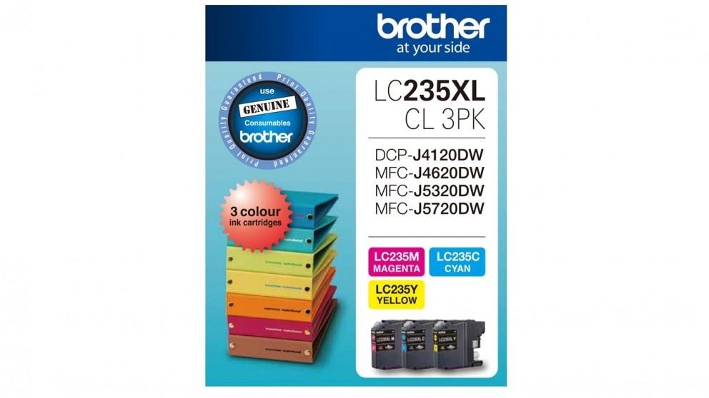 Brother LC235XLCL3PK Ink Cartridge- Magenta/Yellow/Cyan