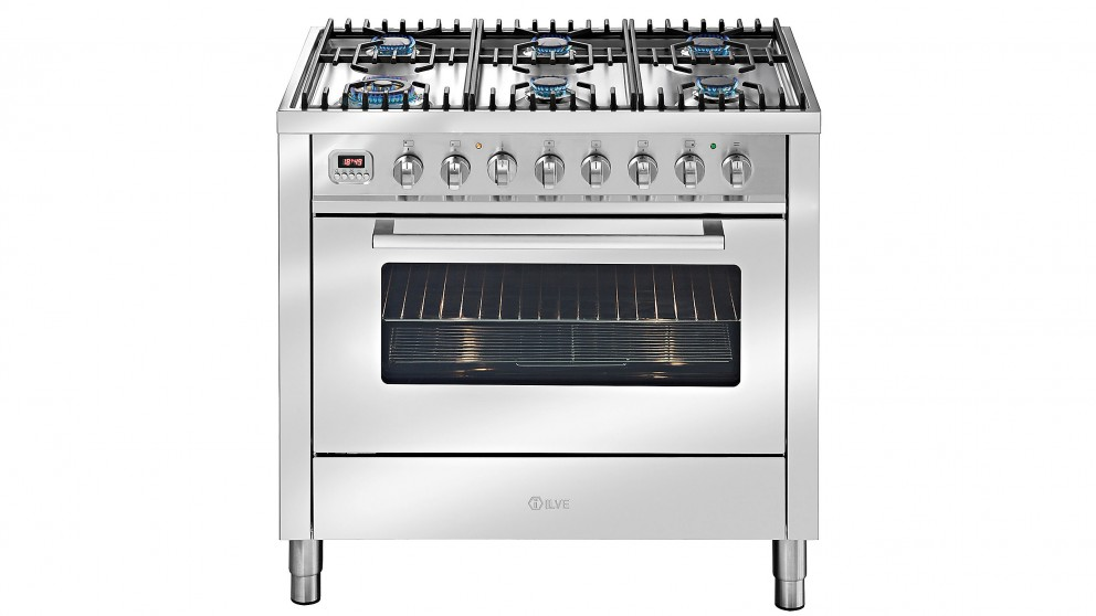 ILVE 900mm Dual-Fuel Freestanding Cooker - Stainless Steel