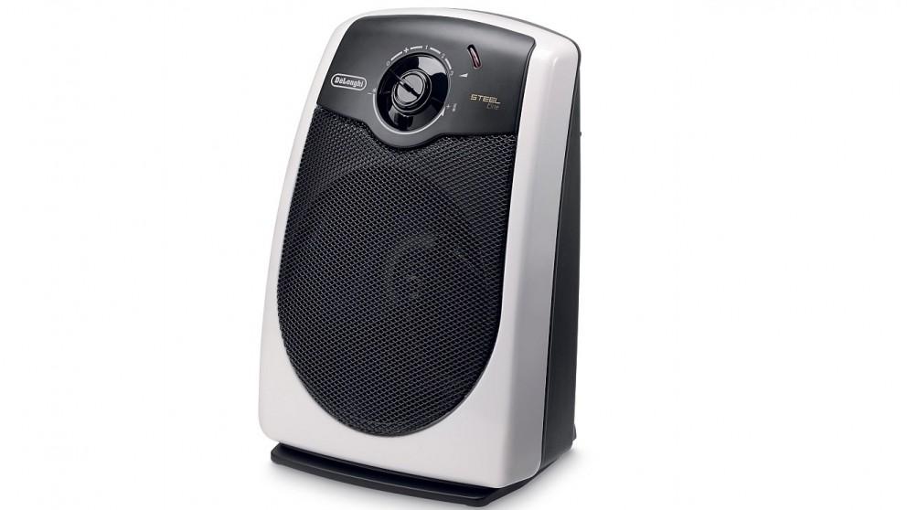 Delonghi 2400W Steel Elite Fan Heater - White