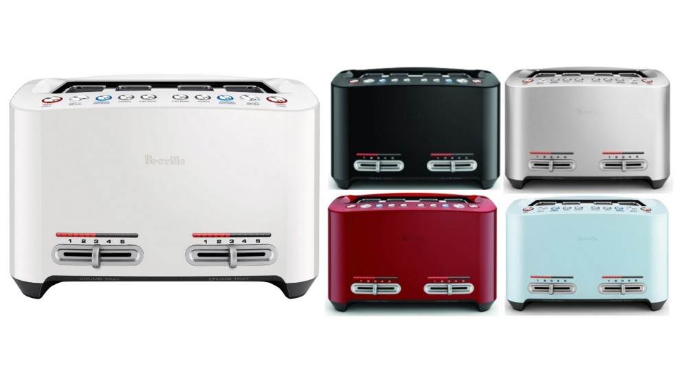 Breville The Smart Toast 4 Slice Toaster - Stainless Steel