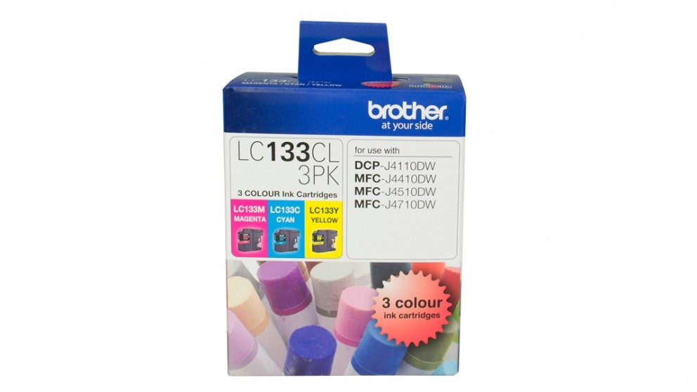 Brother LC-133CL3PK 3 Pack Colour Ink Cartridge