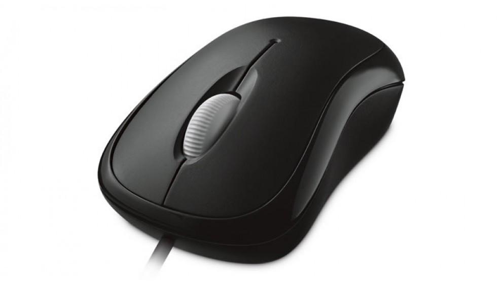 Microsoft Basic Optical Mouse - Black