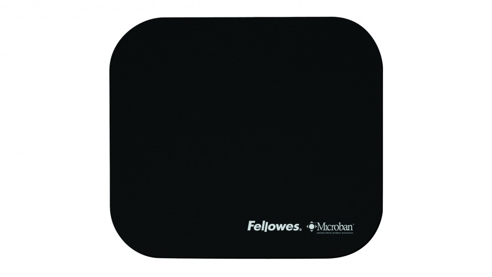 Fellowes Mouse Pad With Microban Product Protection - Black