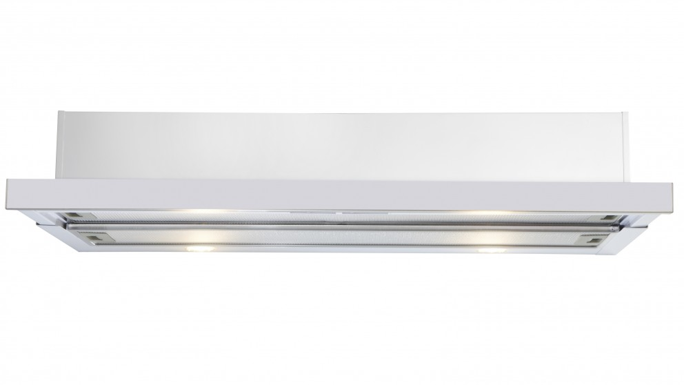 Euromaid 90cm Slide Out Rangehood - White