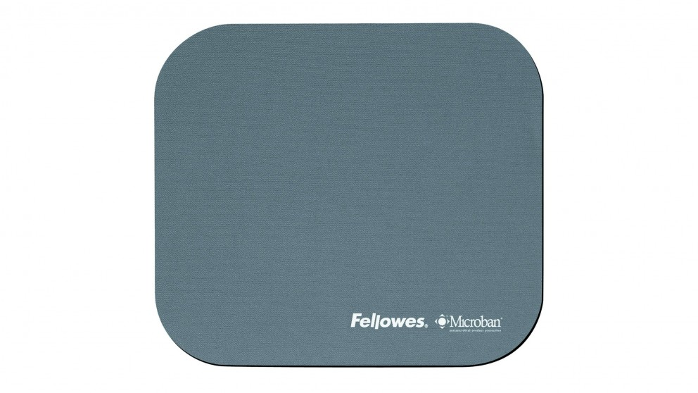 Fellowes Mouse Pad With Microban Product Protection - Silver