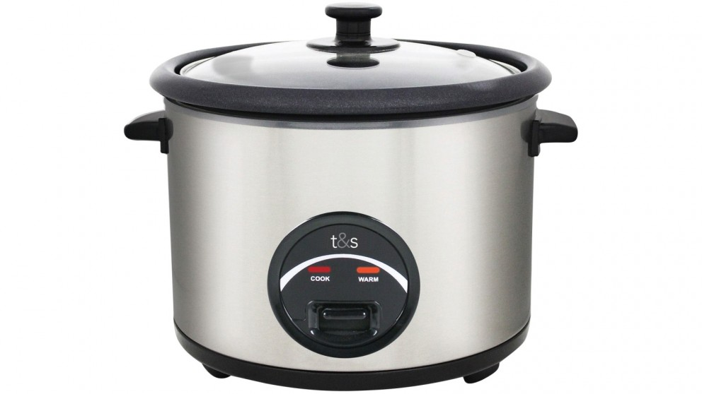 T&S Everyday 5 Cup Rice Cooker - Stainless Steel