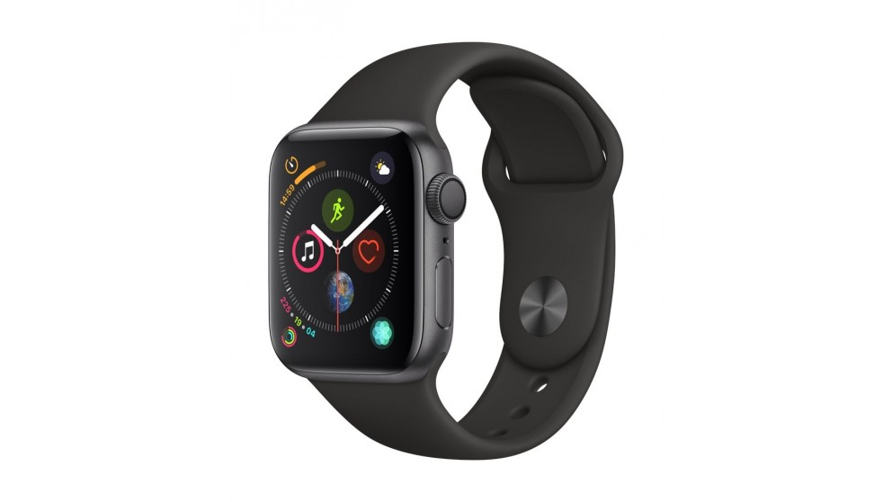 sports shoes 061c2 38d4d Apple Watch Series 4 - Space Grey Aluminium Case with Black Sport Band 40mm  GPS