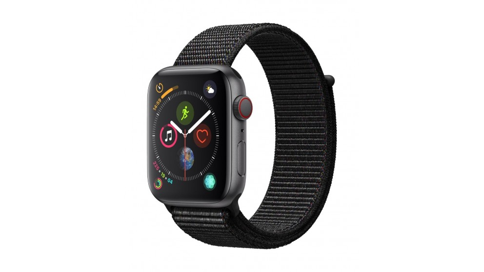 new style e258a 8d19b Apple Watch Series 4 - Space Grey Aluminium Case with Black Sport Loop 44mm  GPS + Cellular