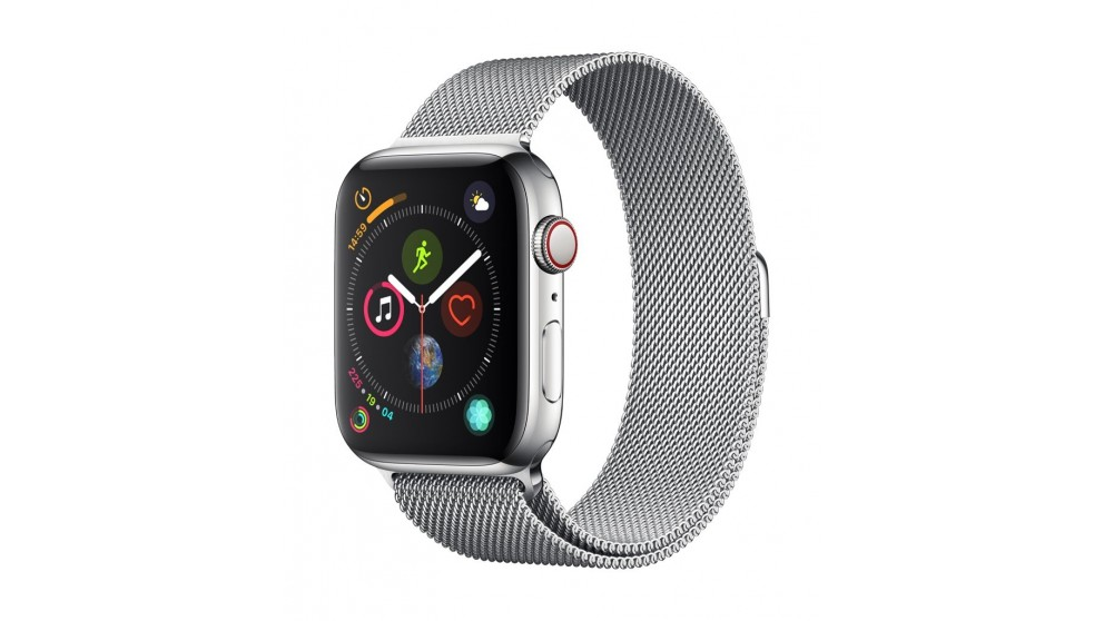 new styles 45370 627cf Apple Watch Series 4 - Stainless Steel Case with Milanese Loop 44mm GPS +  Cellular