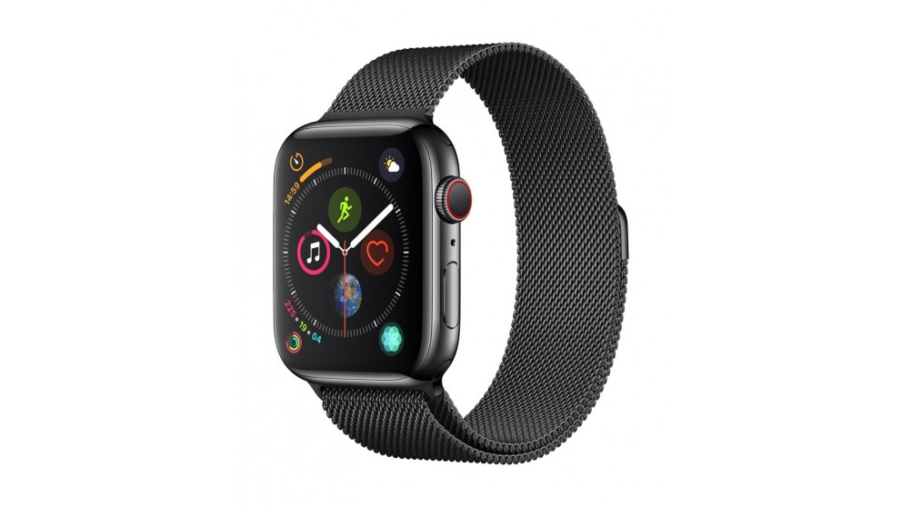 best loved f8a6c f77ee Apple Watch Series 4 - Space Black Stainless Steel Case with Milanese Loop  44mm GPS + Cellular