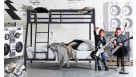 Quad Trio Bunk Bed - Charcoal