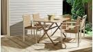 Rosy Rectangular Folding Dining Table