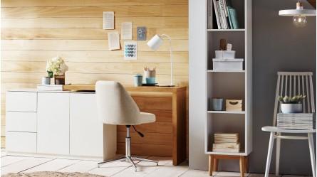 Elsie Office Chair & Home Office Chairs | White u0026 Black | Domayne Australia