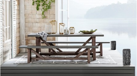 Outdoor Tables Wooden Outdoor Table Domayne Australia