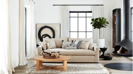 Addison 4 Seater Fabric Lounge
