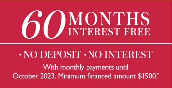 60 Months Interest Free - With Monthly Payments