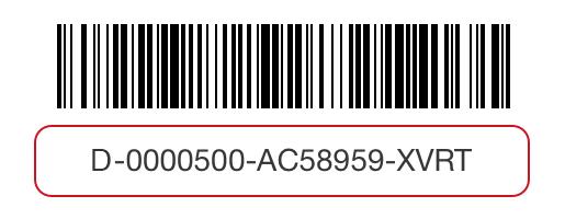 Gift card barcode image